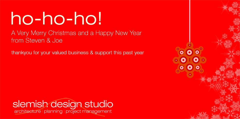 slemish design studio Christmas card 2012