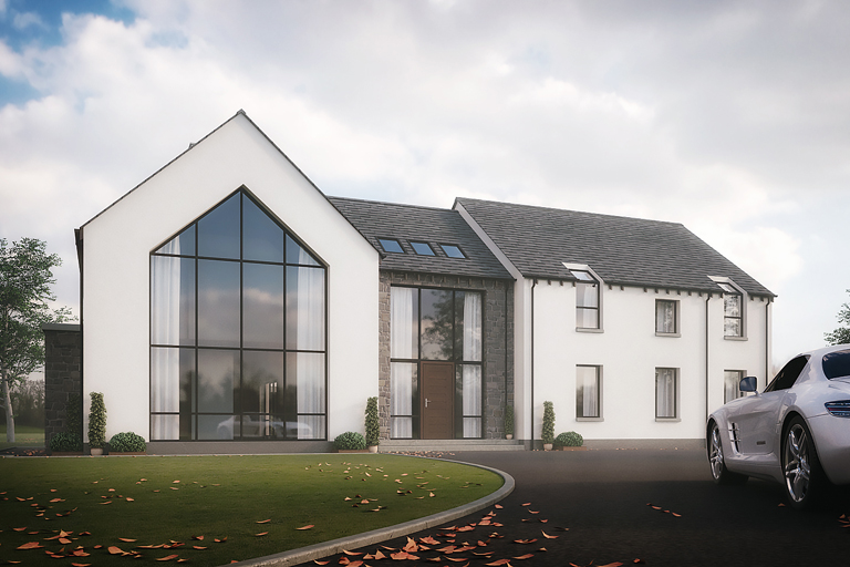 Poseyhill house doagh county antrim slemish design studio Contemporary house designs uk