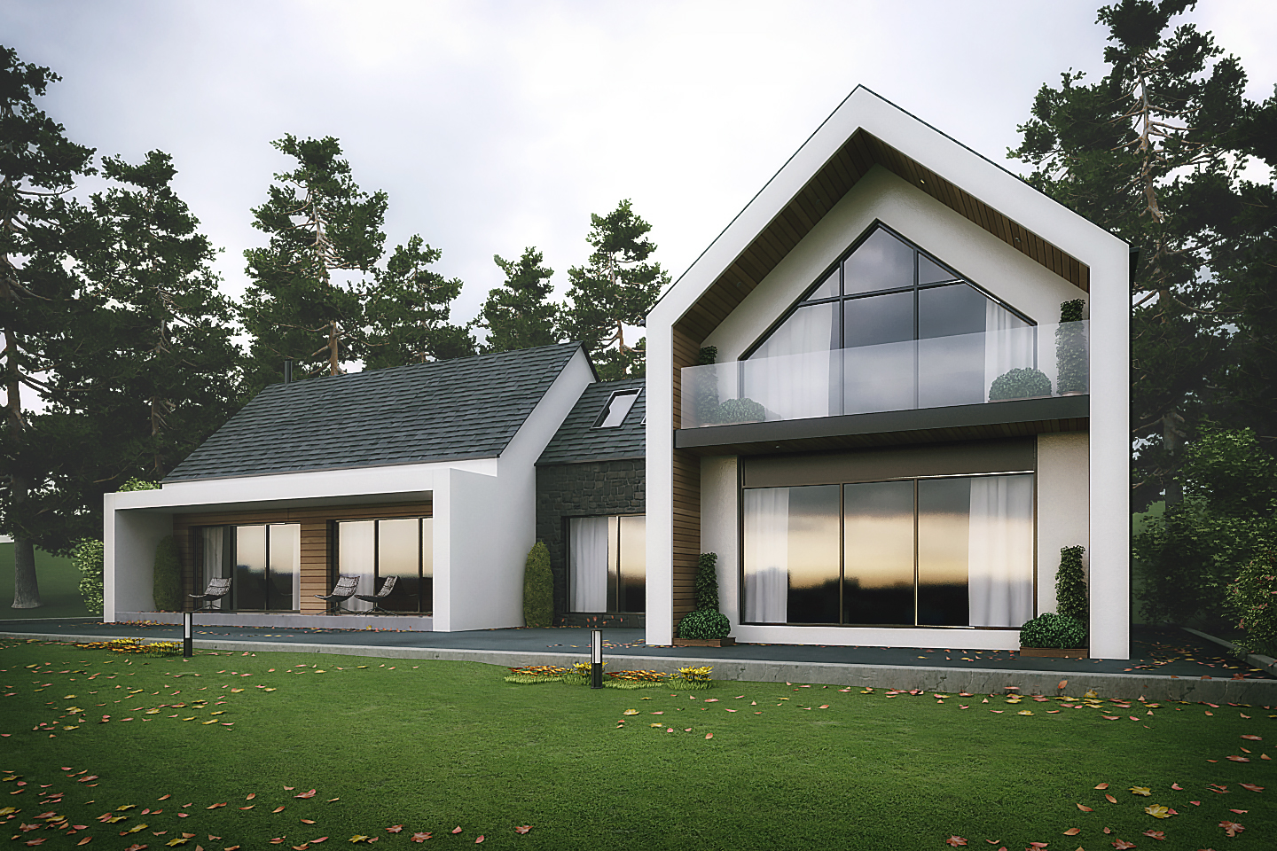 Modern dromintee replacement house newry architects Contemporary house designs uk