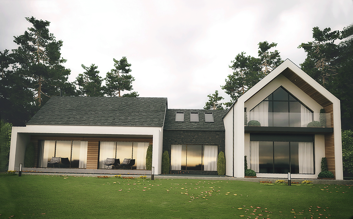 Dromintee Modern House Architects Newry | Slemish Design ...