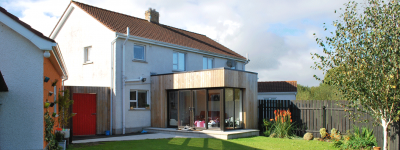 Modern Timber Clad Extension Architects Ballymena