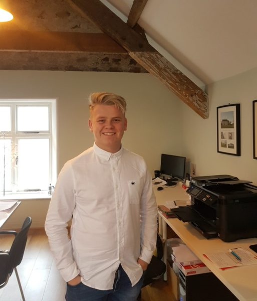 Lewis during his Work Experience week with slemish design studio architects