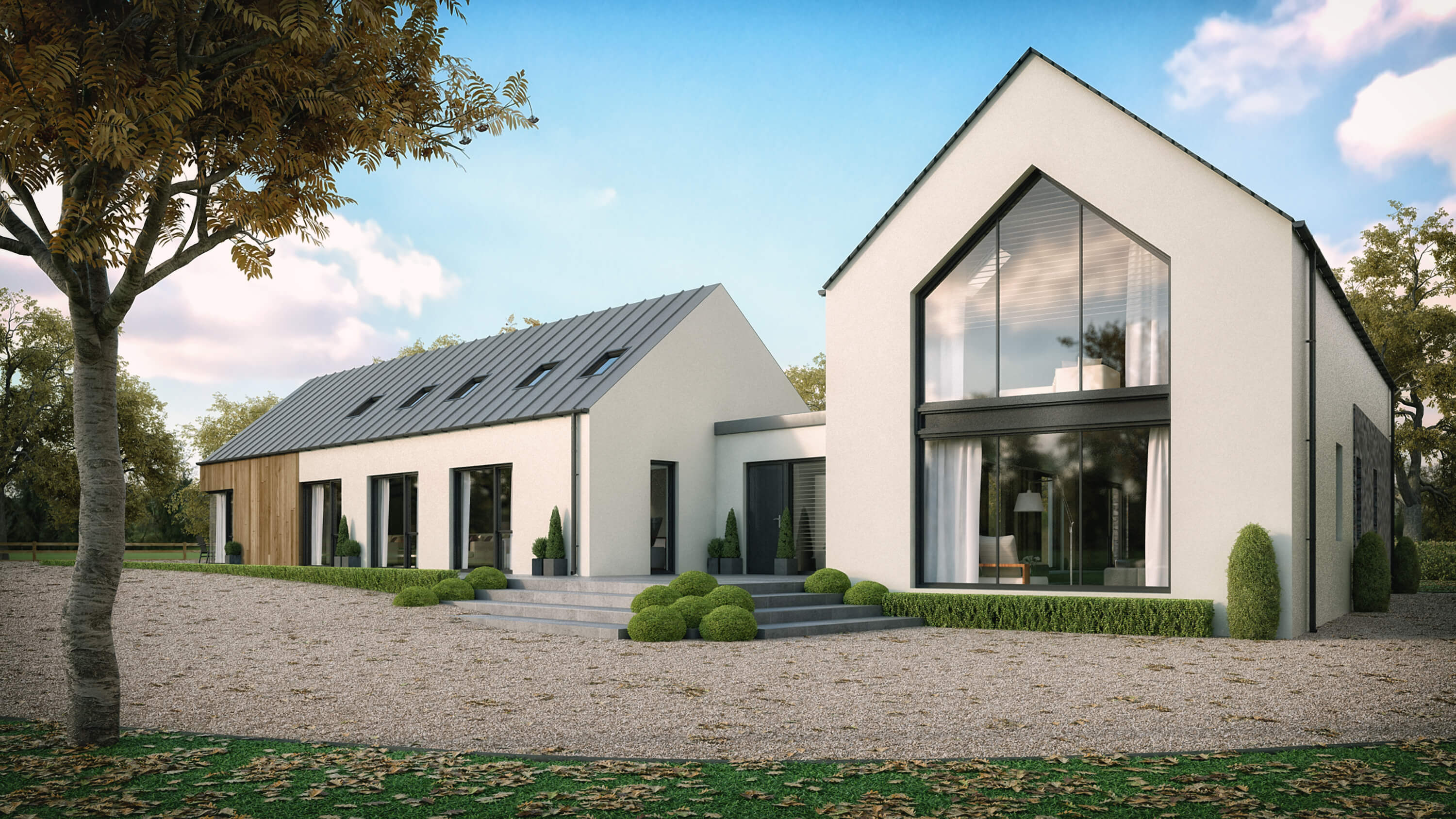 Modern house straffan county kildare slemish design for Modern house design northern ireland