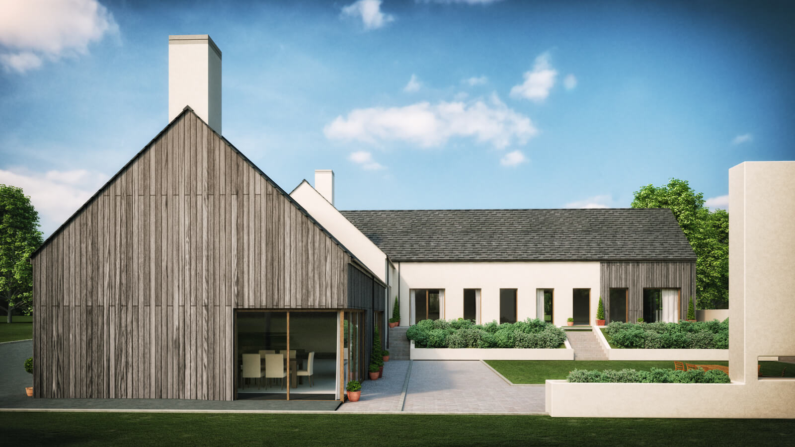 modern family house martinstown ballymena architects