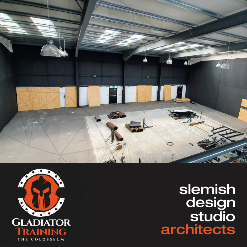 internal images for warehouse for gladiator gym in ballymena