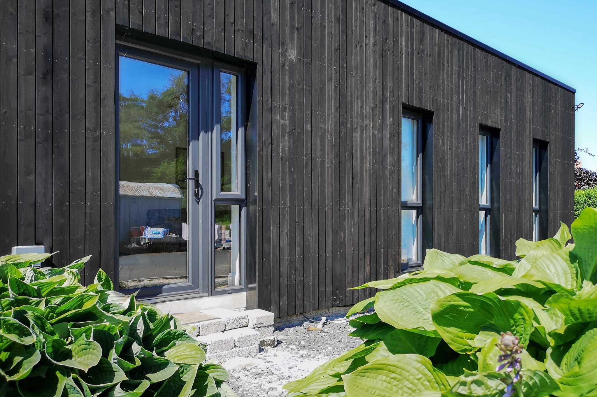 shou sugi ban timber clad granny flat extension