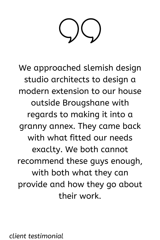clients testimonila raceview granny flat extension