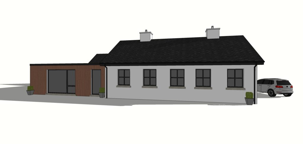 concept 3D for house extension and renovation Athenry Galway