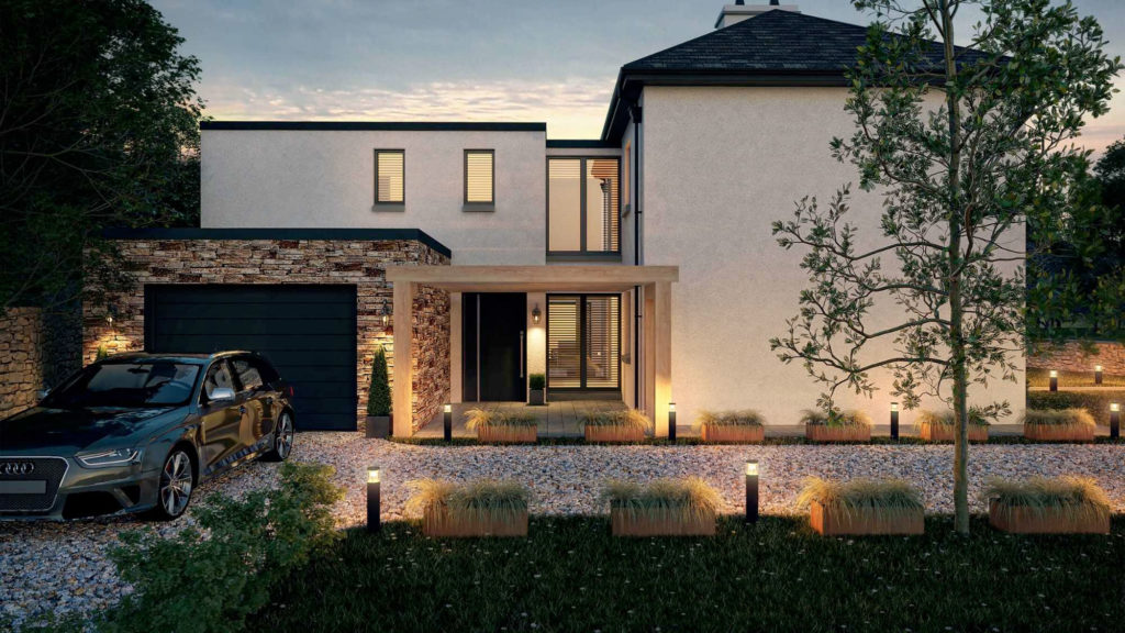 modern extension to old house