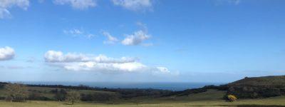 views out to irish sea towards scotland