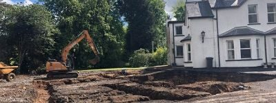 foundations being dug for a new house