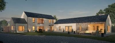 3D render of treadstown house kildare