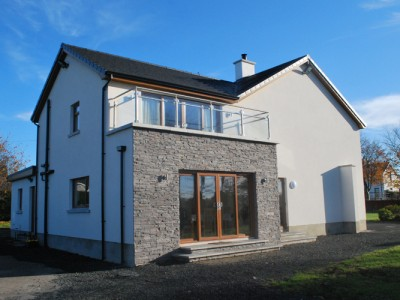 modern extension to house