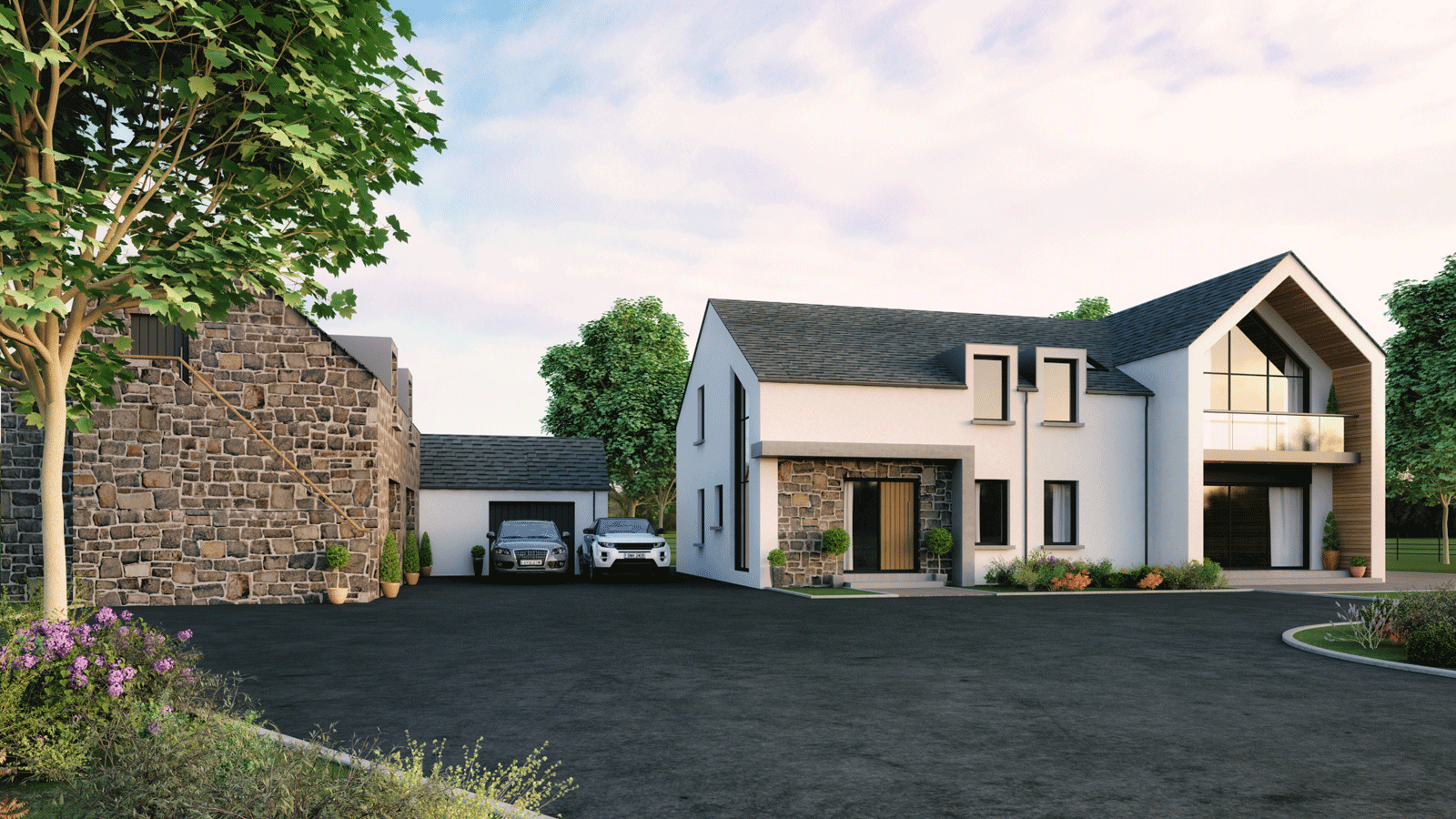 Architects ballymena antrim northern ireland belfast for Modern house designs uk