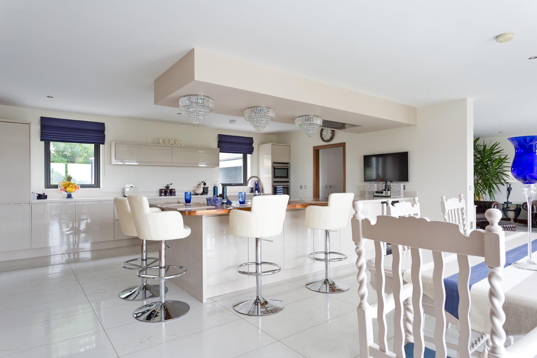 modern kitchen in open plan area