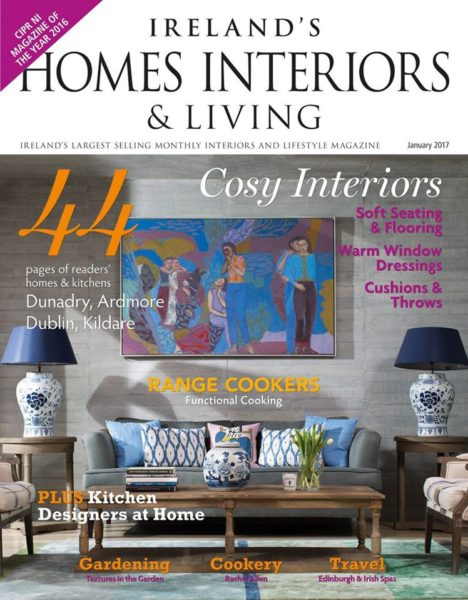 Magazine feature in Ireland's Homes Interiors and Living Magazine