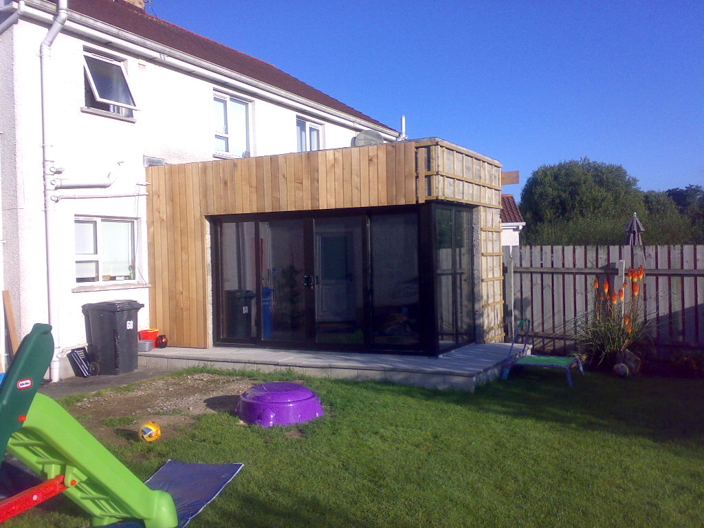 modern timber clad extension